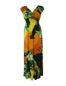 Tropical Floral Maxi Beach Long Summer Dress