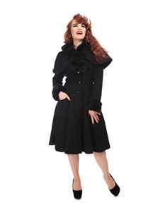 Collectif Adelita 50s Princess Black Coat With Cape