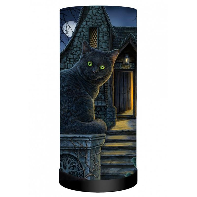 Nemesis Now What Lies Within Black Cat Table Lamp