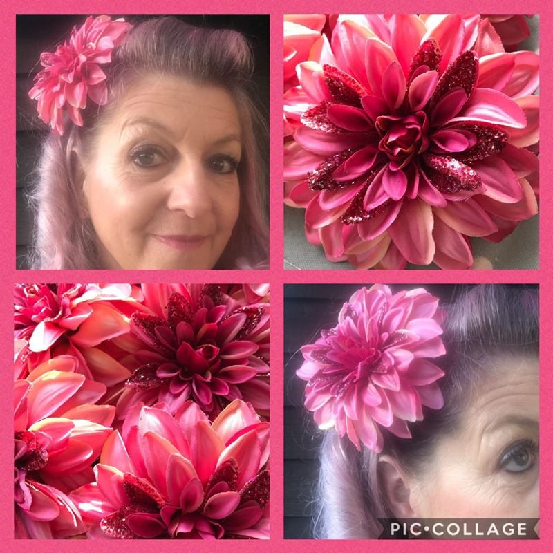 Gertie And The Seamstress Red Dahlia Hair Flower