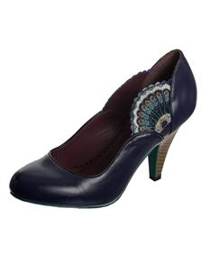 Dancing Days Sway Peacock Heels in Midnight Blue