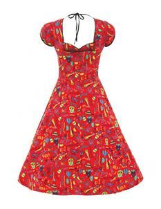 Lindy Bop Bella Mexican Red Dress