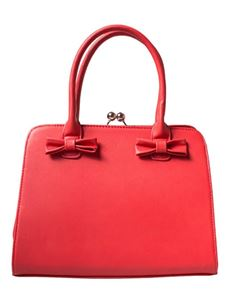 Collectif Vintage Style Jessica Handbag In Red