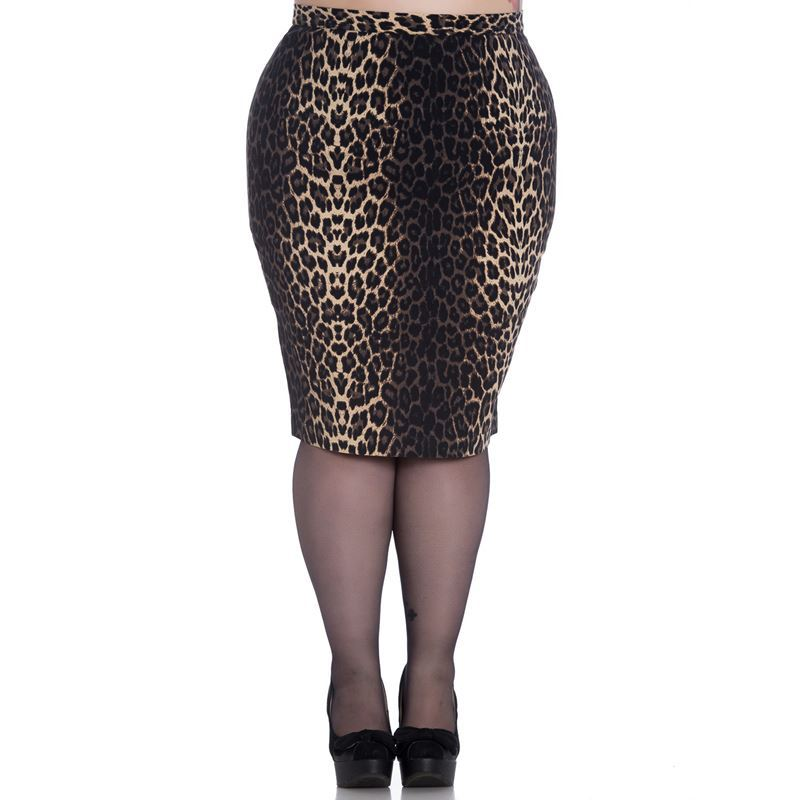 Hell Bunny Panthera 50s Leopard Pencil Wiggle Skirt 98d008a84