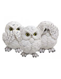 Nemesis Now Three Wise White Owls Ornament