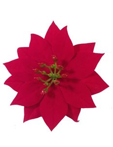 Red Poinsettia Hair Flower Clip By Midcentury Missy