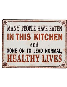 Vintage Style retro Kitchen Quote Fridge Magnet