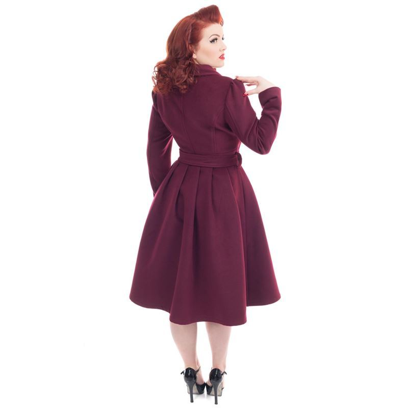 H&R London Vintage 50s Style Swing Coat