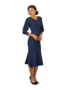 Stop Staring! 30s Vintage Dress Navy