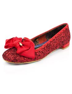 Irregular Choice Sulu Red Flat Shoe
