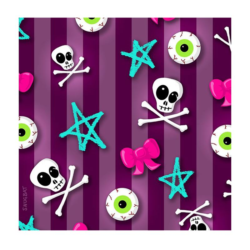 Snugbat Skulls And Stripes Greetings Card