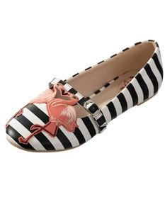 Dancing Days Magic Moment Flamingo Stripe Flat Shoes