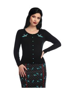 Collectif Jo Rockabilly Swallow Cardigan