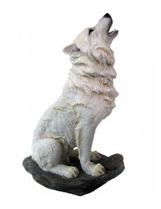 Nemesis Now Storms Cry 20cm Howling White Wolf Ornament