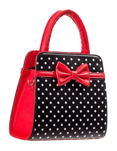 Dancing Days-Banned Carla Black Polka Dot Red Handbag