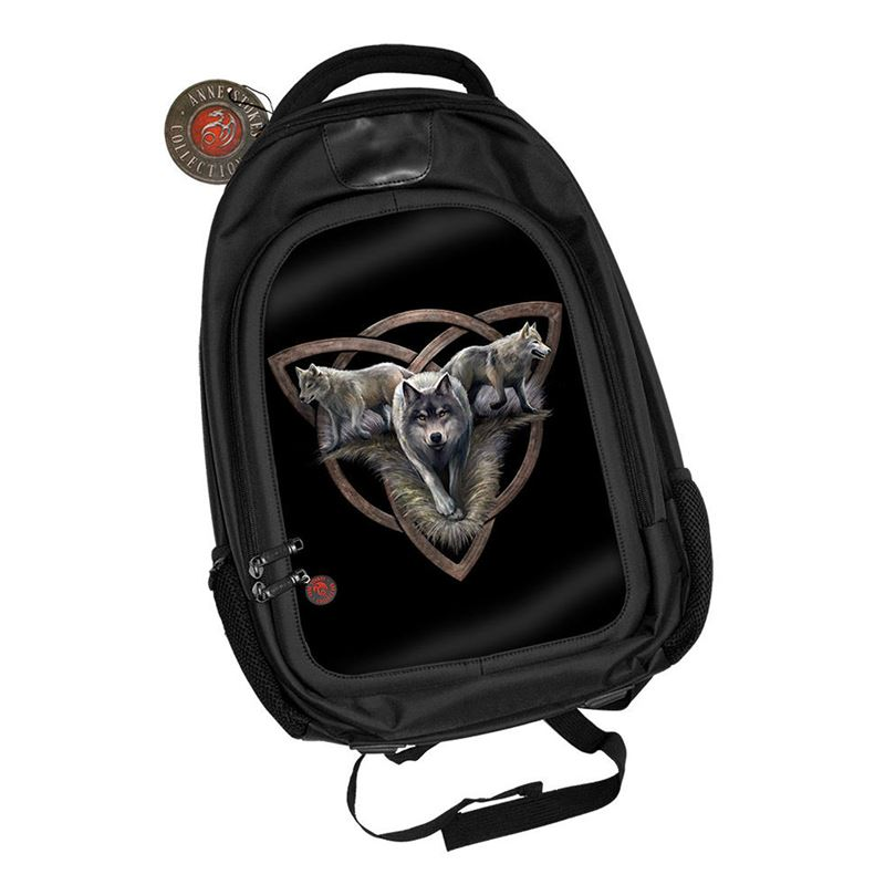 Anne Stokes 3D Wolf Trio Alternative Back Pack