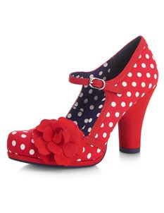Ruby Shoo Hannah Red Spots Polka Dot Mary Jane Shoes