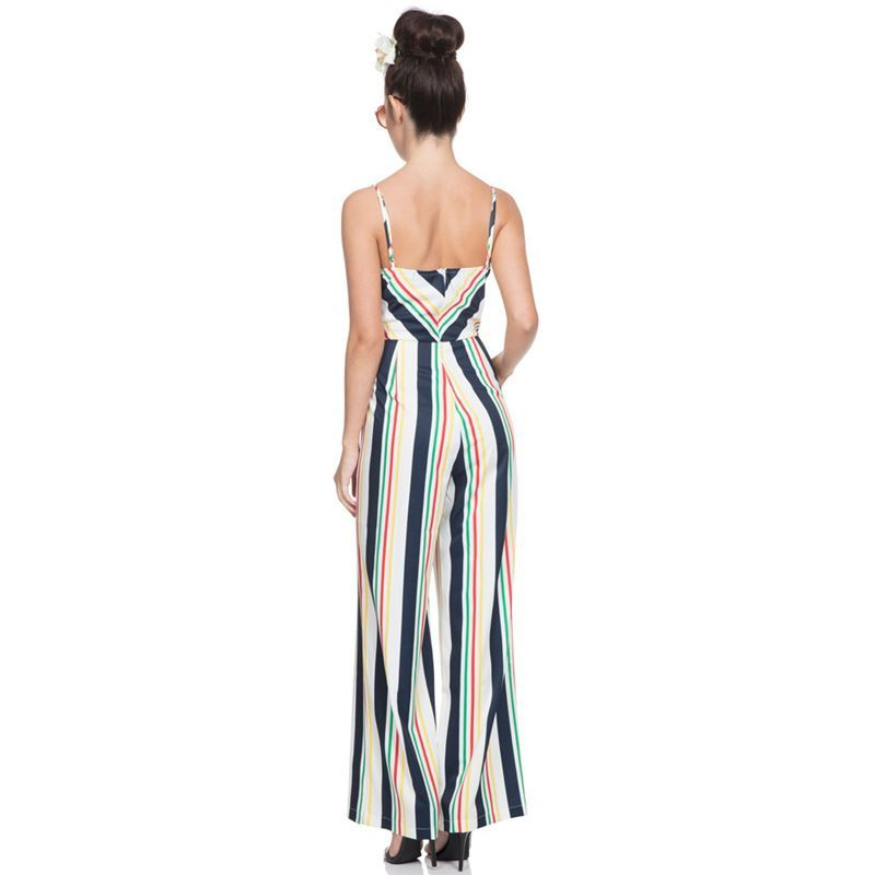 Voodoo Vixen Zarah Striped Jumpsuit
