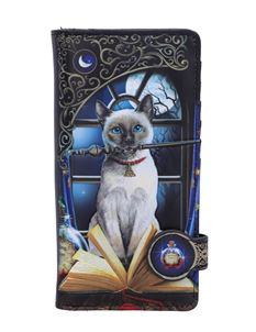 Lisa Parker Hocus Pocus Cat Embossed Purse 18.5cm