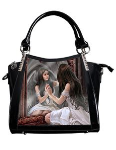 Anne Stokes 3D Magic Mirror Fantasy PVC Black Handbag
