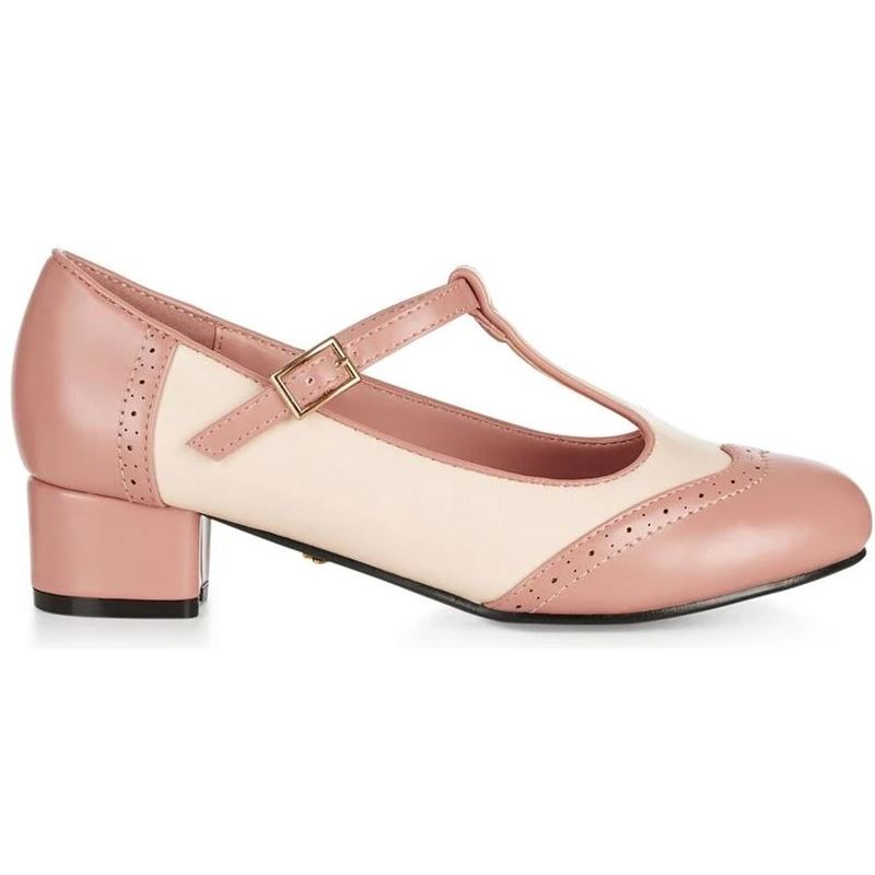 Collectif Pink Ivory Georgia Heels