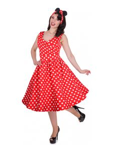 Dolly & Dotty May Dress In Red Polka Dot