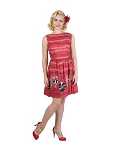 Dancing Days Banned 50s Style Empower Jive Red Dress