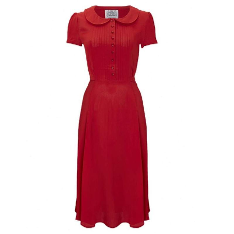 The Seamstress of Bloomsbury Dorothy Dress Plain Red