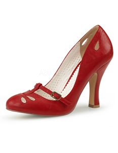 Pin Up Couture Smitten 20 Faux Leather Court Shoes