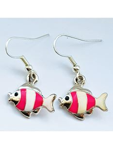 Shazazz Jewellery Pink Fish Earrings