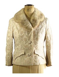 True Vintage Ladies Cream 1950's Evening Jacket