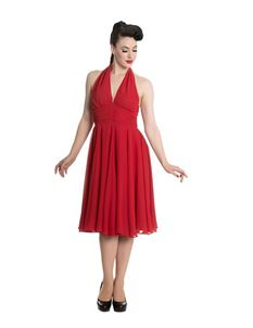Hell Bunny - Red Monroe 50s Evening Dress