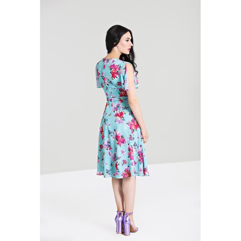 Hell Bunny Primavera Floral Chiffon Tea Dress