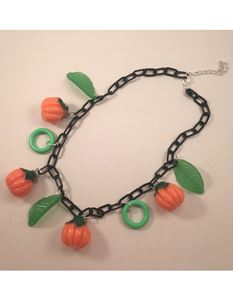 1940s Halloween Pumpkin Necklace By Midcentury Missy