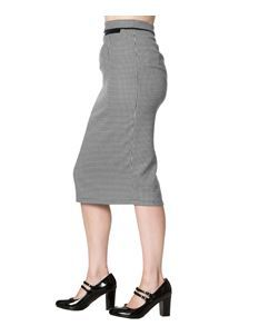 Dancing Days Swept Off Her Feet 50s Pencil Wiggle Dogtooth Skirt