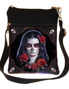 Nemesis Now Sugar Skull Shoulder Bag By James Ryman