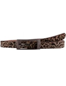 Collectif 50s Style Tommy Thin Leopard Belt