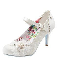 Joe Browns Hitched Wedding Satin Shoes Ivory