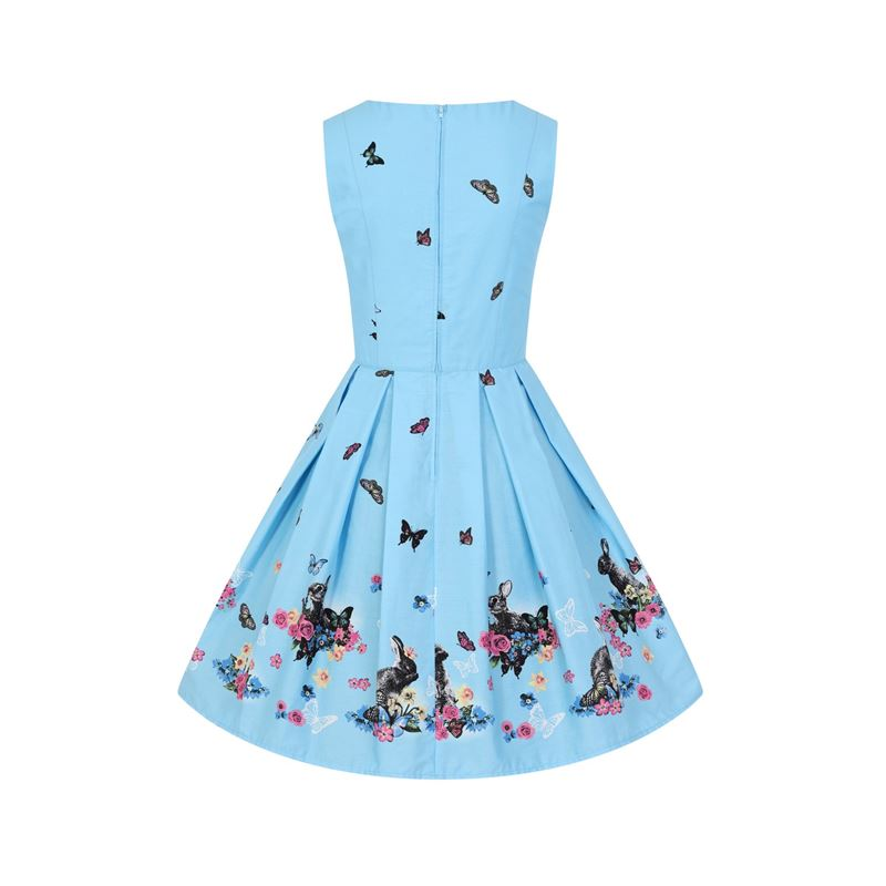 Hell Bunny Cotton Tail Rabbit Butterfly Mid Dress