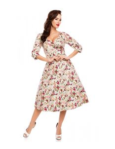 Dolly & Dotty 50s Style Katherine Floral Dress