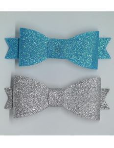 Said Lucy Blue And Silver Glitter Bows