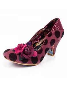 Irregular Choice Winchester Pink Black Polka Dot Heels