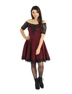 Hell Bunny Amara Lace Alternative Mini Dress