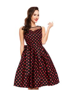 Dolly & Dotty Elizabeth Polka Dot Evening Dress