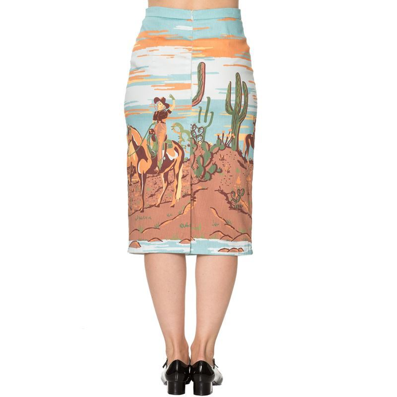 Magical Day Dancing Days Cowgirl Desert Pencil Skirt