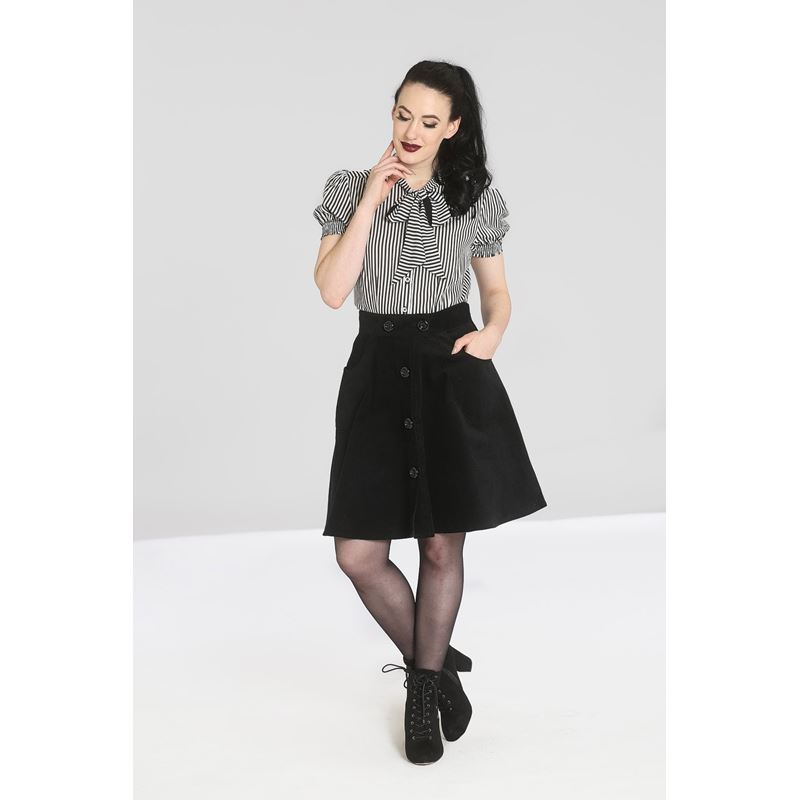 Hell Bunny Wonder Years Corduroy Short Mini Skirt