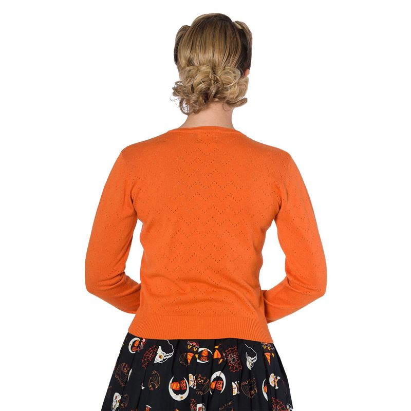 Banned Piontelle Knit 40s 50s Style Orange Cardigan