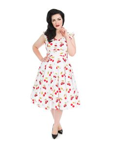 Hearts & Roses - Sweet Cherries Swing Dress