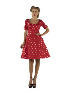 92b8f15cd19d23 Dolly & Dotty Barbara Red Polka Dress
