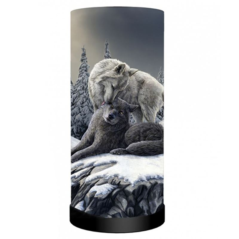 Nemesis Now Snow Kisses Wolf Bedside Table Lamp